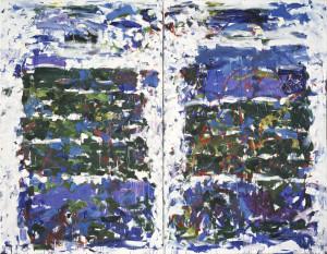 Joan Mitchell Champs, 1990 Öl auf Leinwand (Diptychon) 280 x 360,1 cm © Nachlass Joan Mitchell, Privatsammlung