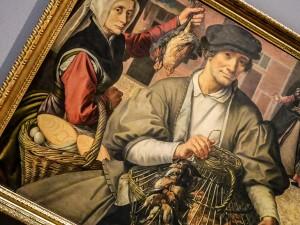 Pieter Aertsen, 1508/09 - 1575 Amsterdam, Marktszene um 1560/1565 , Kunsthistorisches Museum Wien, Gemäldegalerie