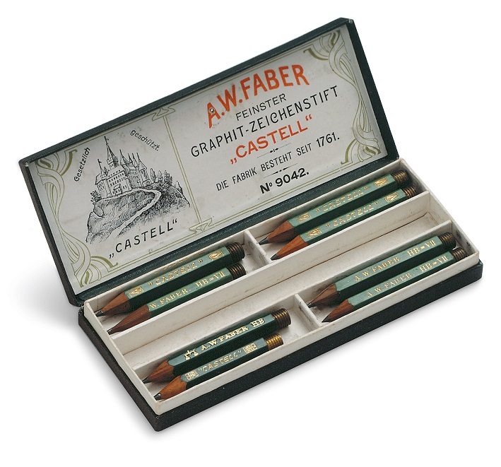 Castell 9000 Bleistifte aus dem Faber-Castell Archiv (ca. 1908) © Faber-Castell