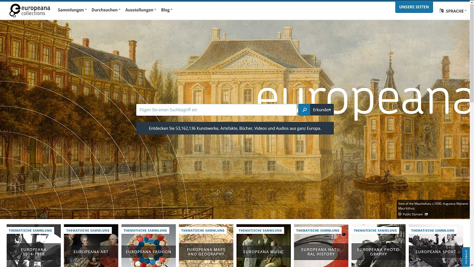 Datenbanken – #Europeana #BloggersForEuropeana